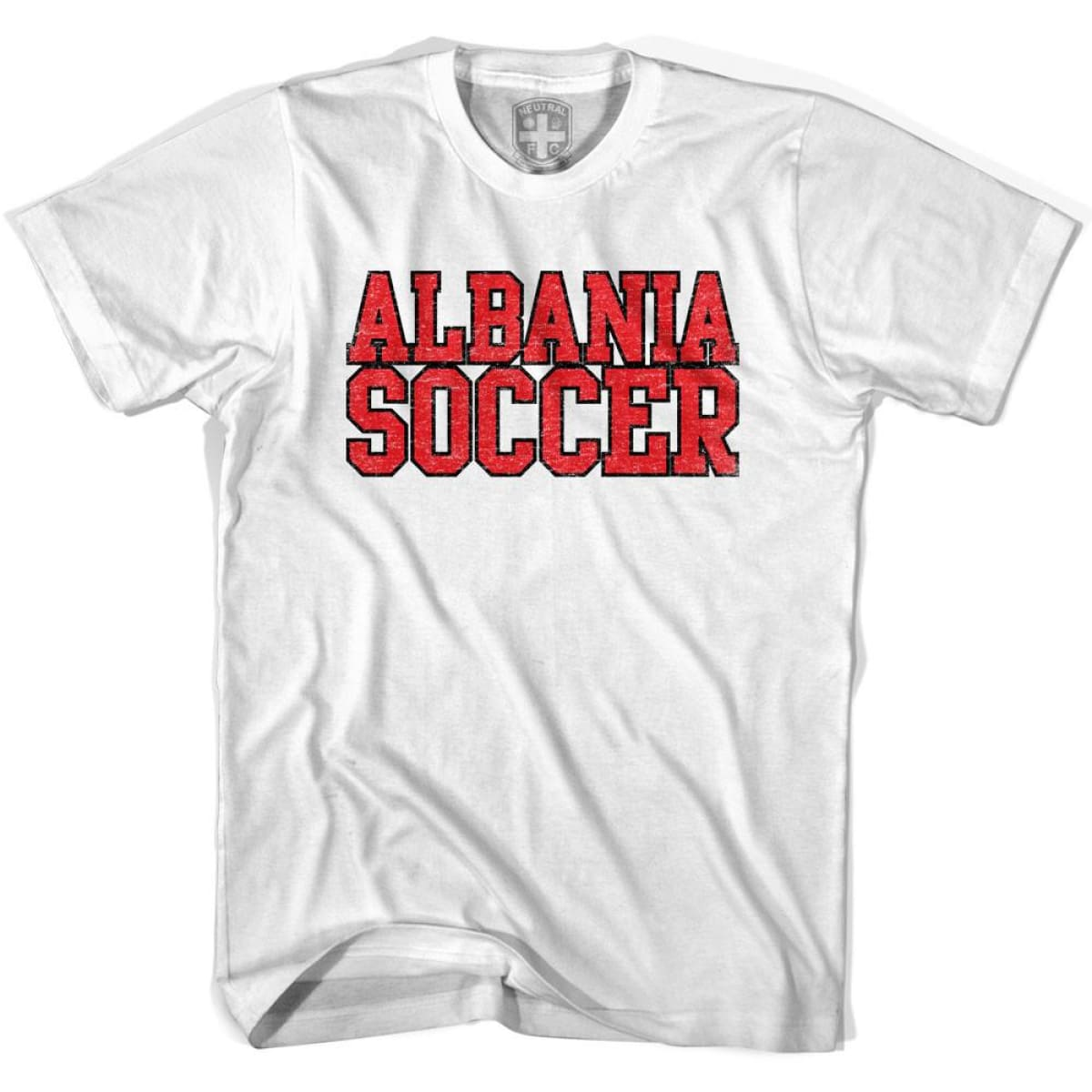 Albania Soccer Nations World Cup T-shirt - White / Youth X-Small - Ultras Soccer T-shirts