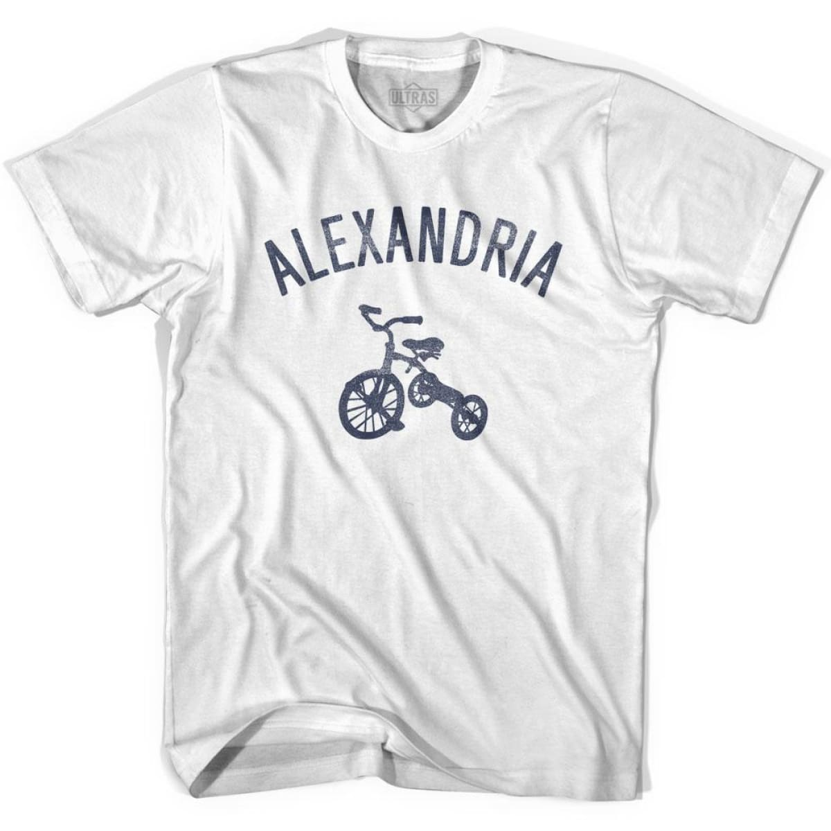 Alexandria City Tricycle Womens Cotton T-shirt - Tricycle City