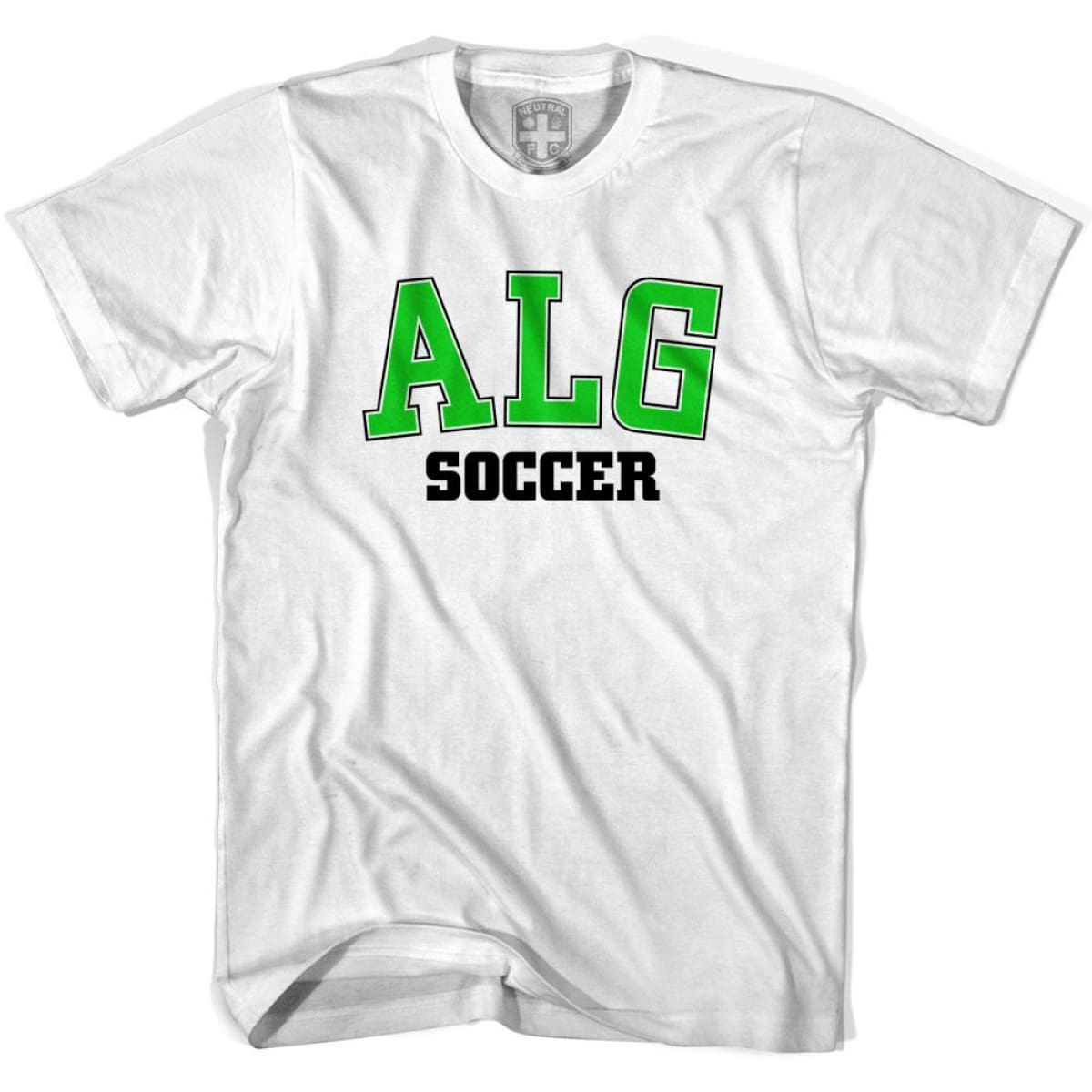 Algeria ALG Soccer Country Code T-shirt - White / Youth X-Small - Ultras Soccer T-shirts