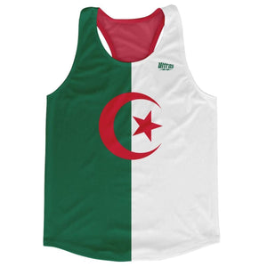 Algeria Country Flag Running Tank Top Racerback Track and Cross Country Singlet Jersey - Green White / Adult X-Small - Running Top