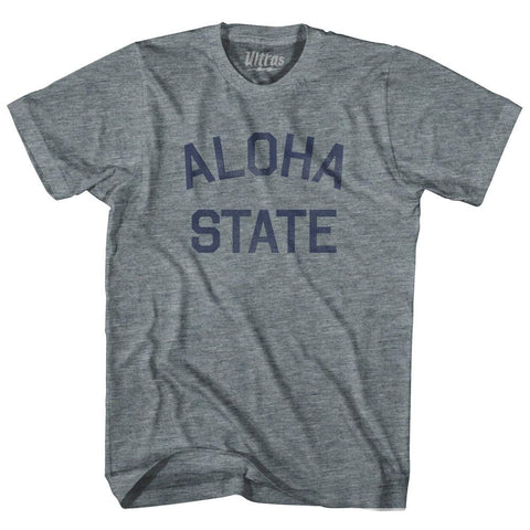 Hawaii Aloha State Nickname Adult Tri-Blend T-shirt by Ultras