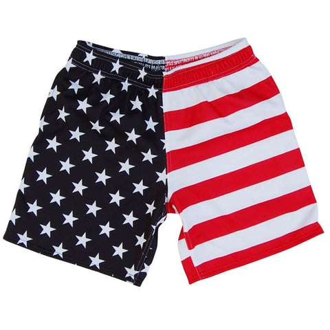 American Flag Jacks Athletic Fleece Sweatshorts - Red White and Blue / Adult Small - Sweat Shorts