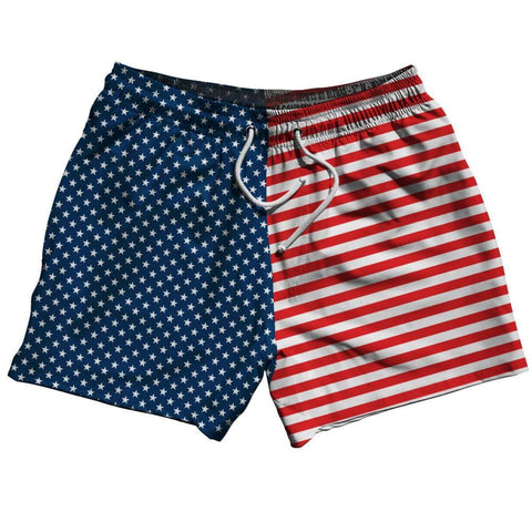 American Flag Jacks Swim Shorts 5 - Red White Blue / Adult Small - Swimshorts