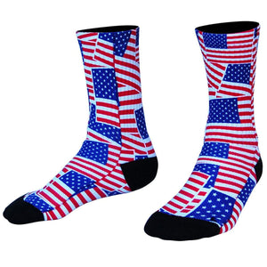 American Flag Party Athletic Crew Socks - White / Medium - Socks