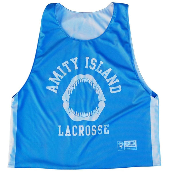 Amity Island Lacrosse Reversible Pinnie - Light Blue / Youth X-Small / No - Graphic Lacrosse Pinnies