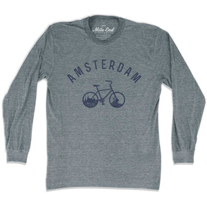 Amsterdam Bike Long Sleeve T-shirt - Mile End City