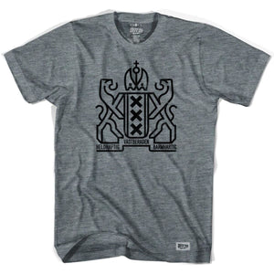 Amsterdam City Crest T-shirt-Adult - Athletic Grey / Adult Small - Ultras City T-shirts
