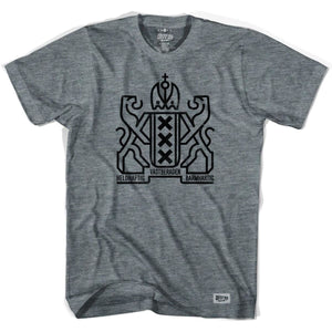 Amsterdam City Crest T-shirt - Athletic Grey / Adult Small - Ultras City T-shirts