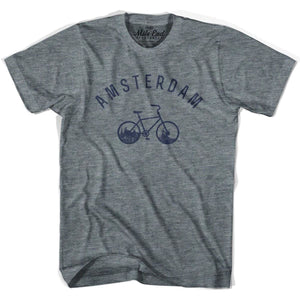 Amsterdam Vintage Bike T-shirt - Athletic Grey / Adult X-Small - Mile End City