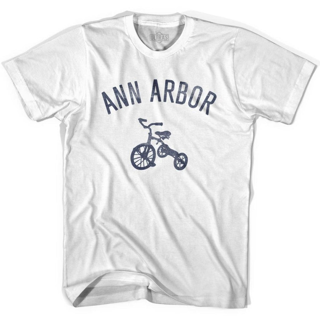 Ann Arbor City Tricycle Womens Cotton T-shirt - Tricycle City
