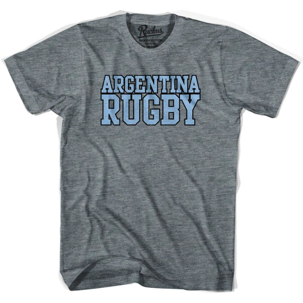 Argentina Rugby Nations T-shirt - Athletic Grey / Adult Small - Rugby T-shirt