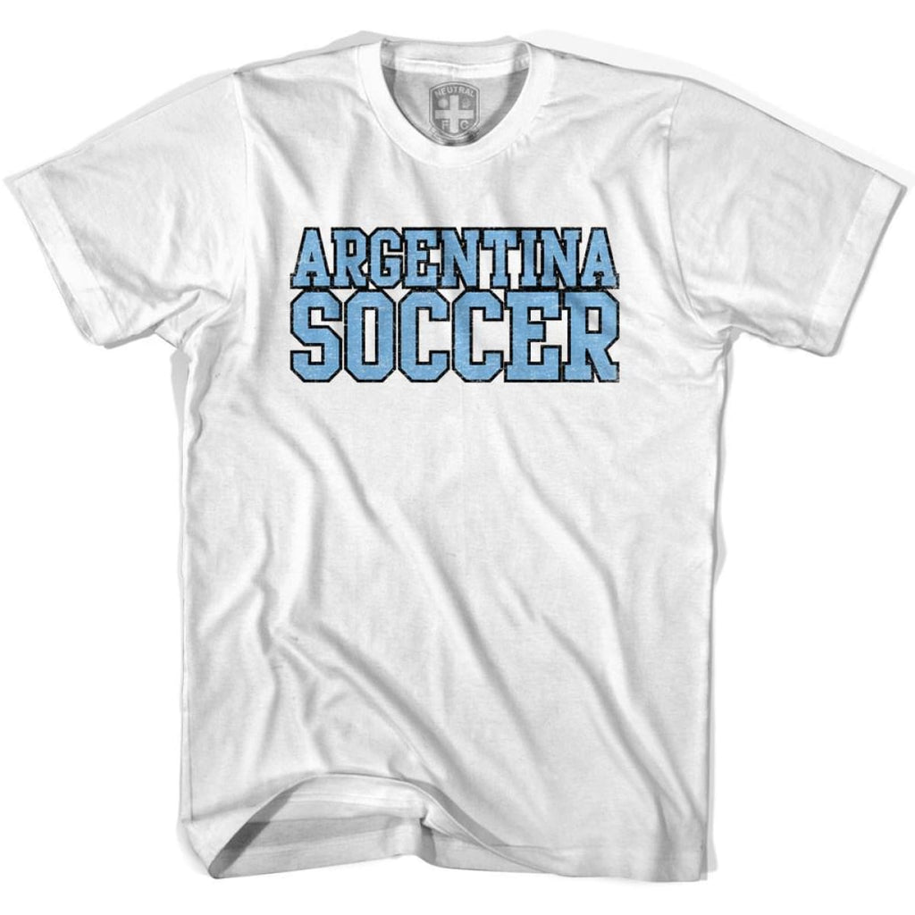 Argentina Soccer Nations World Cup T-shirt - White / Youth X-Small - Ultras Soccer T-shirts