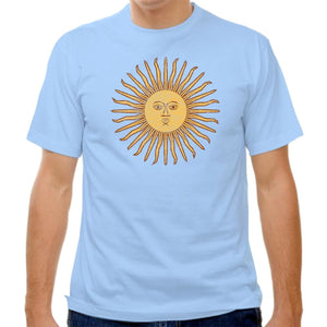 Argentina Sun T-shirt - Baby Blue / Adult Small - Ultras Soccer T-shirts