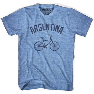Argentina Vintage Bike T-shirt - Athletic Blue / Adult X-Small - Vintage Bike T-shirt