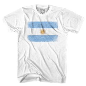 Argentina Vintage Flag T-shirt - White / Youth X-Small - Ultras Soccer T-shirts
