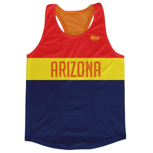 Arizona Finish Line Running Tank Top Racerback Track and Cross Country Singlet Jersey - Blue Yellow / Adult X-Small - Running Top
