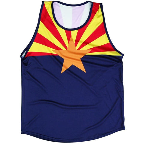 Arizona Flag Sport Tank-Adult - Navy / Adult Small - Lacrosse Tank Top