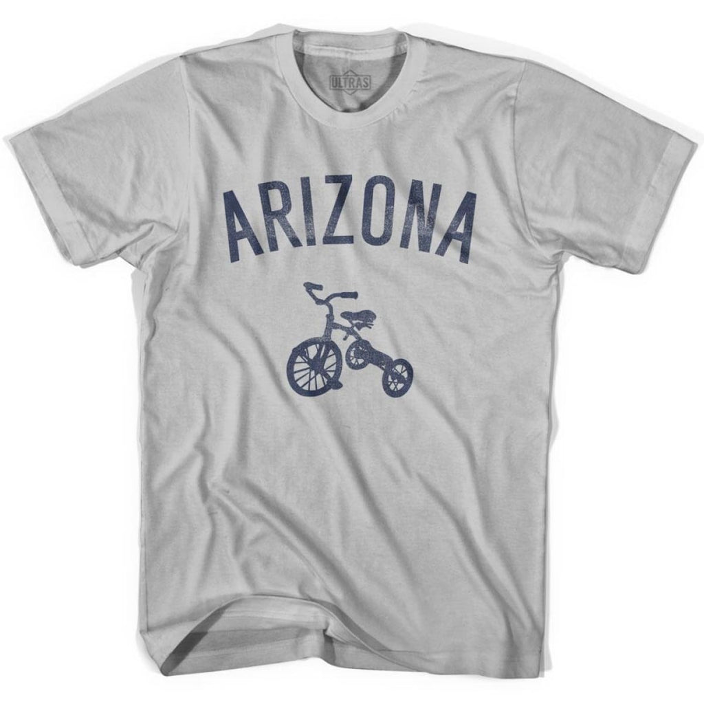 Arizona State Tricycle Adult Cotton T-shirt - Cool Grey / Adult Small - Tricycle State