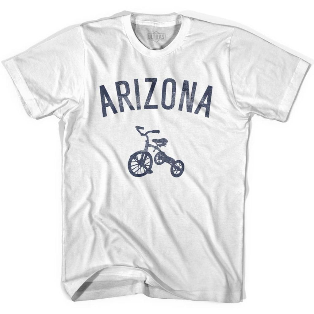 Arizona State Tricycle Adult Cotton T-shirt - White / Adult Small - Tricycle State