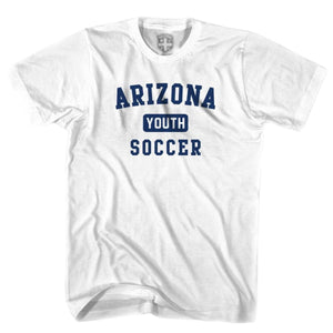 Arizona Youth Soccer T-shirt - White / Youth X-Small - Ultras Soccer T-shirts