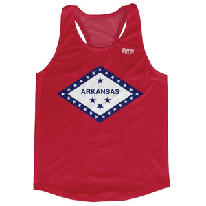 Arkansas State Flag Running Tank Top Racerback Track and Cross Country Singlet Jersey - Red / Adult X-Small - Running Top