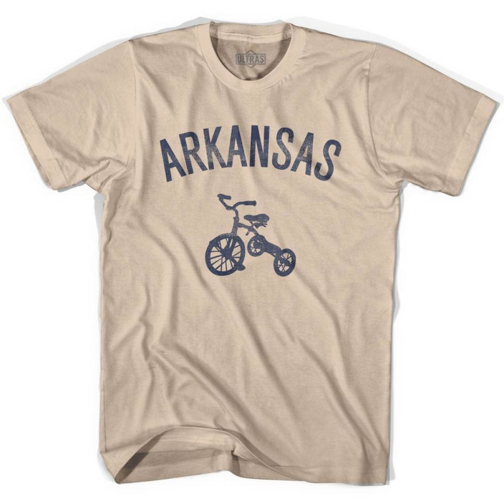 Arkansas State Tricycle Adult Cotton T-shirt - Creme / Adult Small - Tricycle State