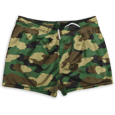 "Army Camo Shorty Short Gym Shorts 2.5""Inseam By Ultras Sportswear"