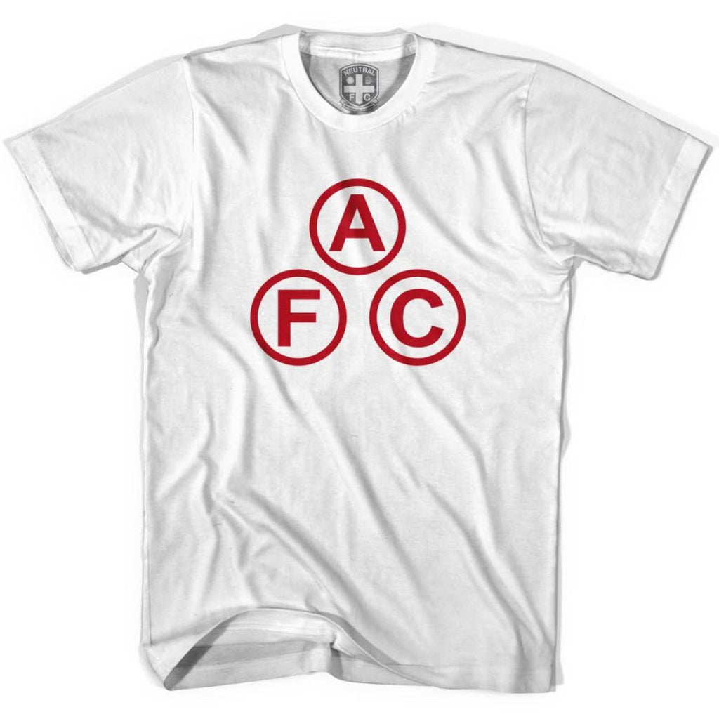 Arsenal AFC Cannon Ball T-shirt - White / Youth X-Small - Ultras Soccer T-shirts