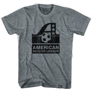 ASL American Soccer League Vintage T-shirt-Adult - Athletic Grey / Adult Small - Ultras Vintage American Soccer T-shirts