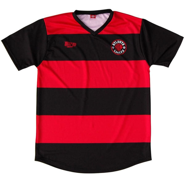 Atlanta Chiefs Soccer Jersey - Red and Black / Youth X-Small / No - Ultras NASL Soccer Jerseys