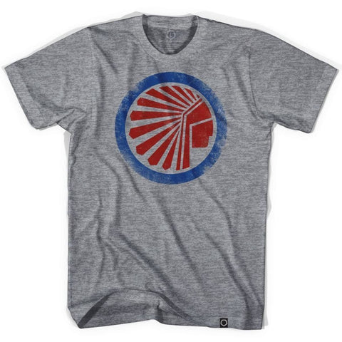 Atlanta Chiefs Soccer T-shirt-Adult - Athletic Grey / Adult Small - Ultras Vintage American Soccer T-shirts