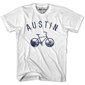 Austin Bike T-shirt - White / Adult X-Small - Mile End City