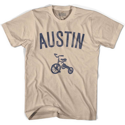 Austin City Tricycle Adult Cotton T-shirt - Tricycle City