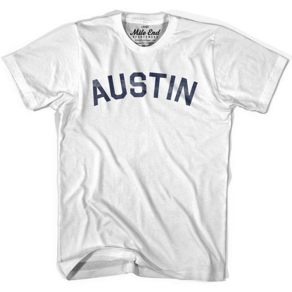 Austin City Vintage T-shirt - White / Youth X-Small - Mile End City