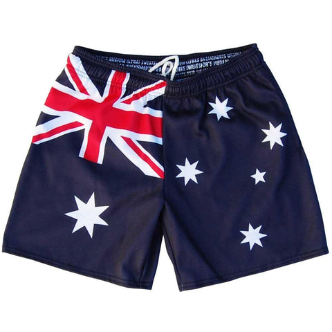 Australia Flag Athletic Fleece Sweatshorts - Navy / Adult Small - Sweat Shorts