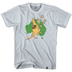 Australia Kangaroo Rugby T-shirt - Cool Grey / Adult Small - Rugby T-shirt