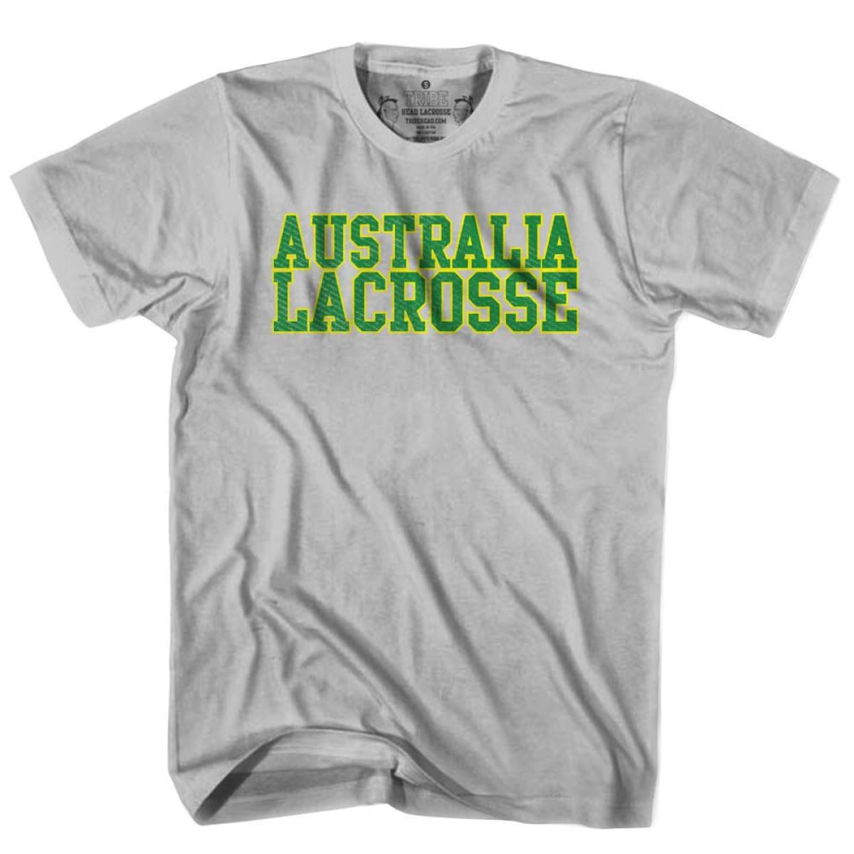 Australia Lacrosse Nation T-shirt - Cool Grey / Youth X-Small - Lacrosse T-shirt