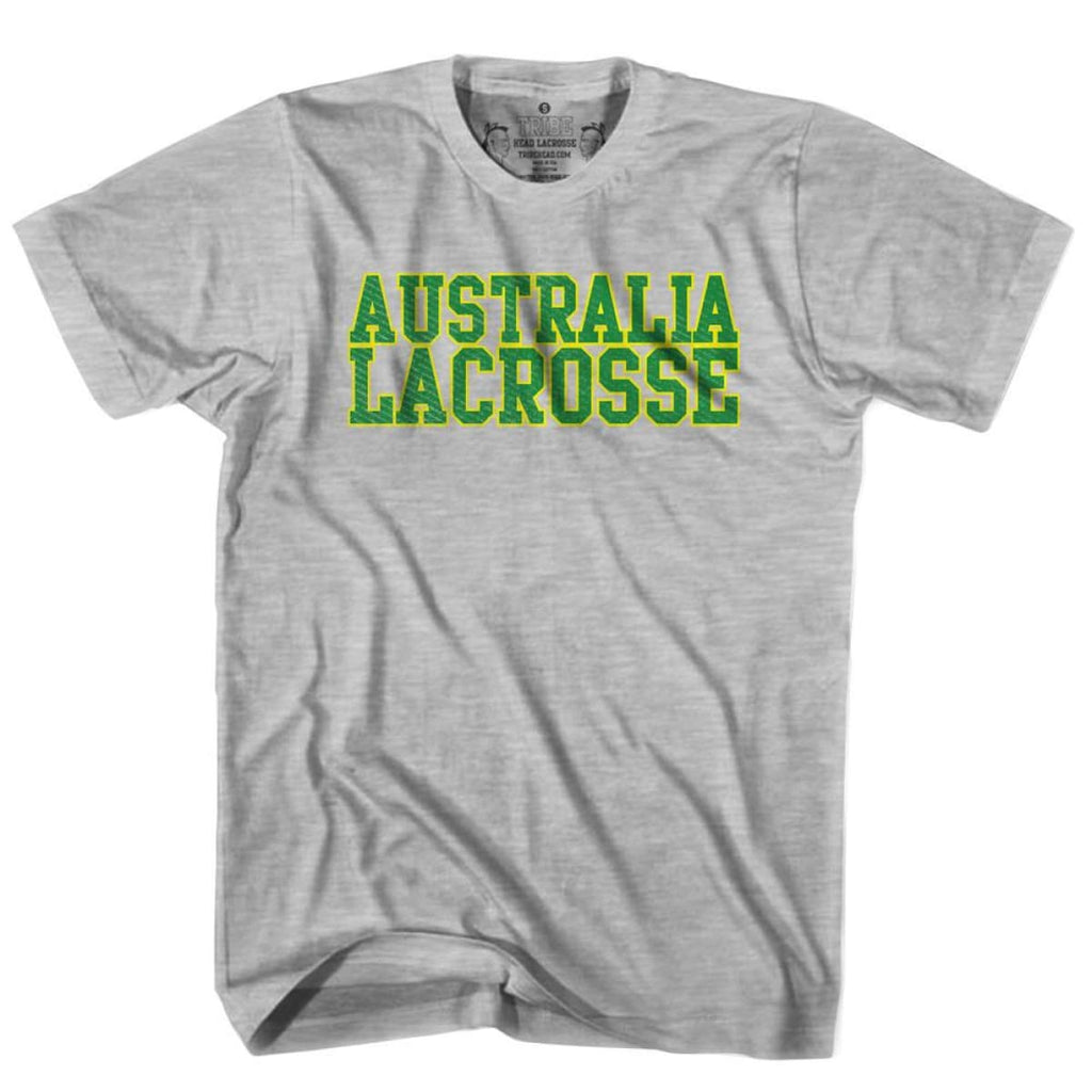 Australia Lacrosse Nation T-shirt - Heather Grey / Youth X-Small - Lacrosse T-shirt
