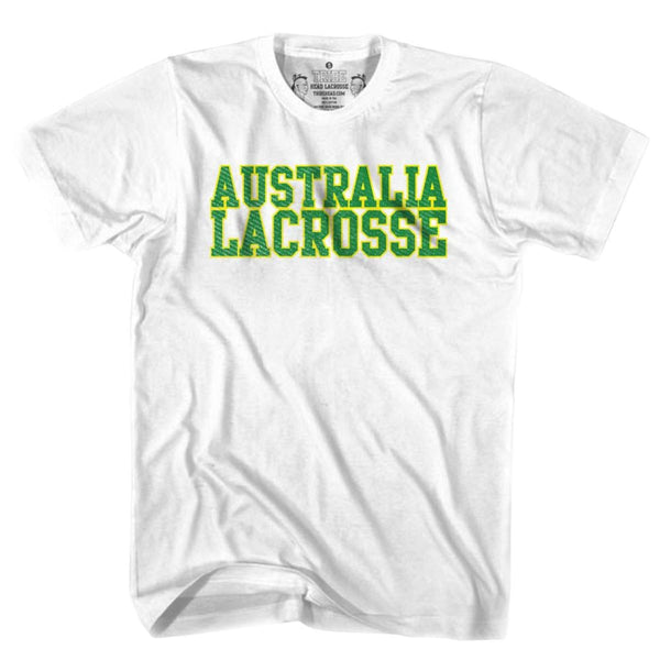Australia Lacrosse Nation T-shirt - White / Youth X-Small - Lacrosse T-shirt
