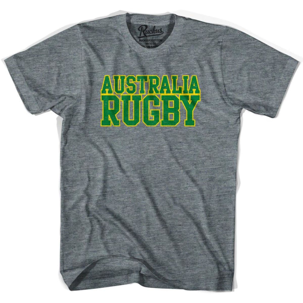 Australia Rugby Nations T-shirt - Athletic Grey / Adult Small - Rugby T-shirt
