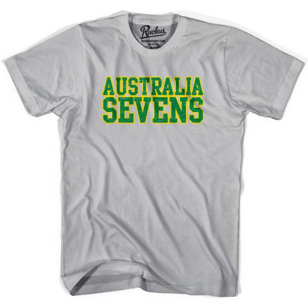 Australia Seven Rugby T-shirt - Cool Grey / Youth Small - Rugby T-shirt