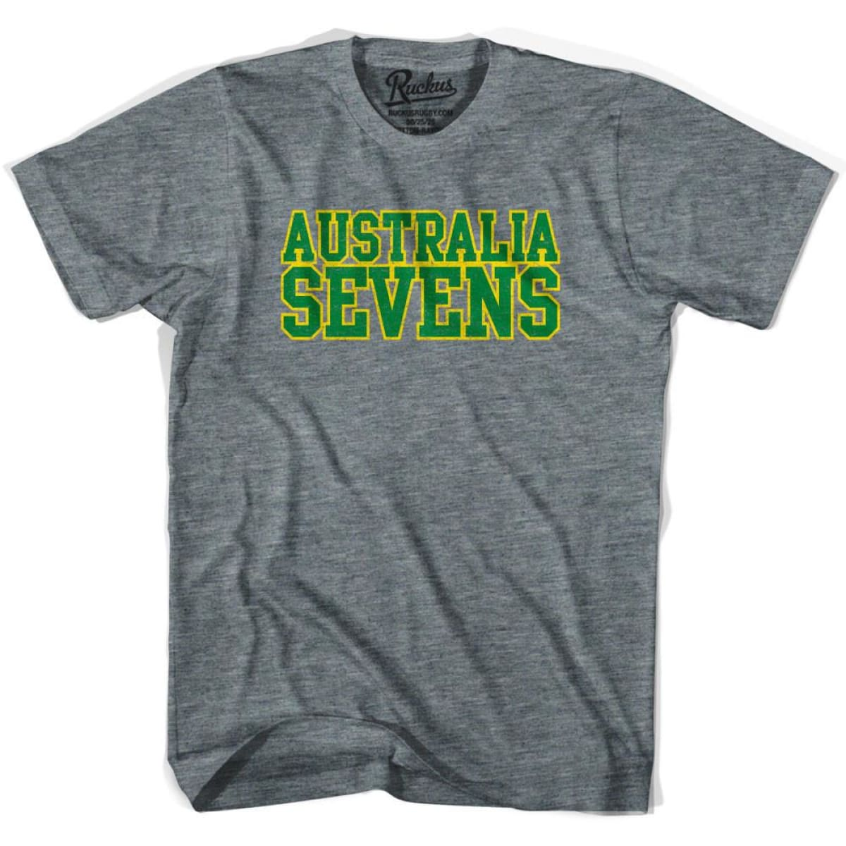 Australia Sevens Rugby T-shirt - Athletic Grey / Adult Small - Rugby T-shirt