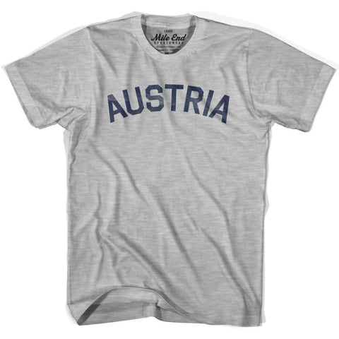 Austria City Vintage T-shirt-Adult - Grey Heather / Adult Small - Mile End City