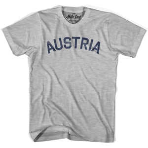 Austria City Vintage T-shirt - Grey Heather / Youth X-Small - Mile End City