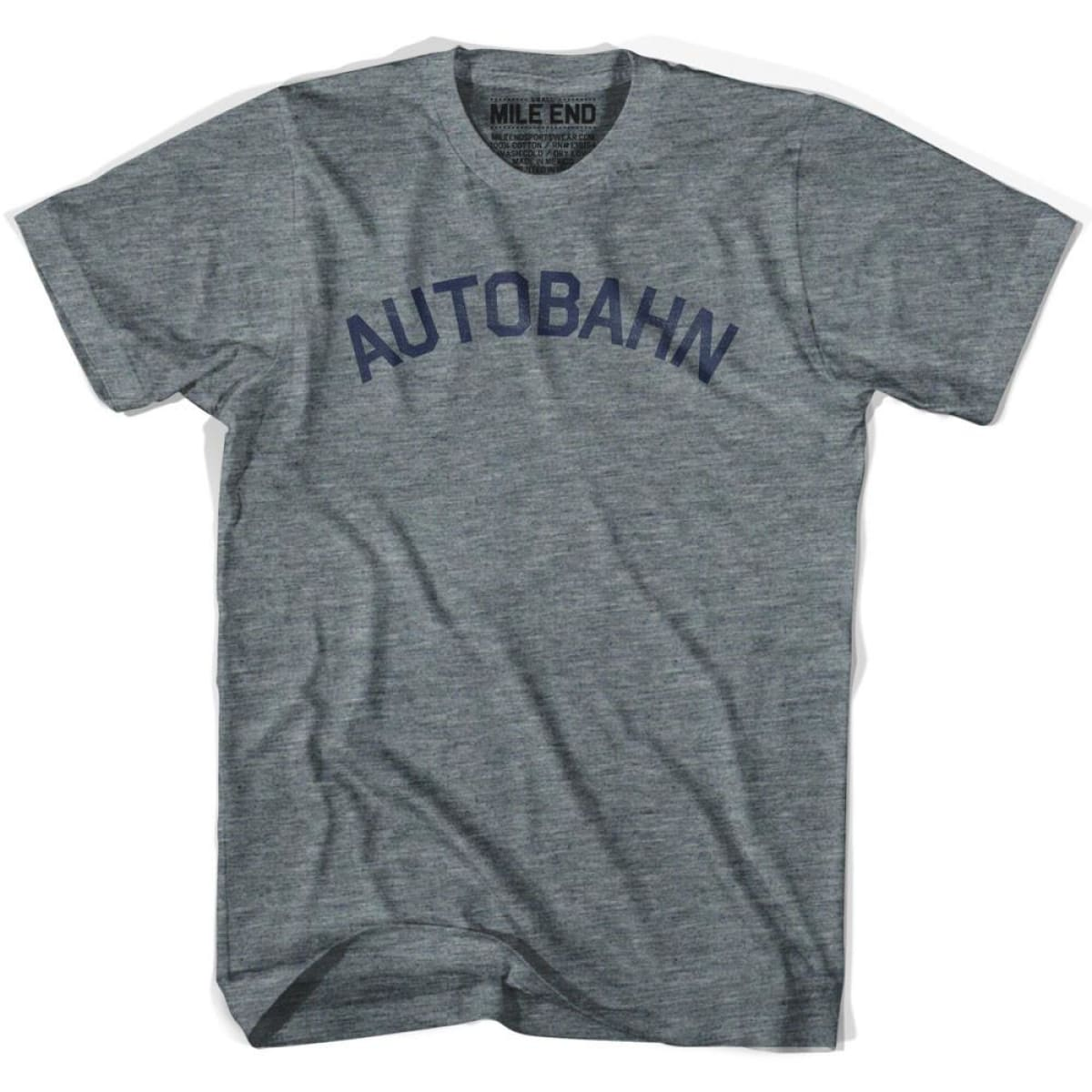 Autobahn City Vintage T-shirt - Athletic Grey / Adult X-Small - Mile End City
