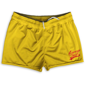 "Average Joes Cursive Logo Shorty Short Gym Shorts 2.5""Inseam By Ultras Sportswear"