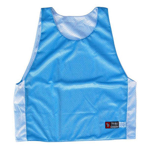 Baby Blue and White Reversible Lacrosse Pinnie in Baby Blue/White by Tribe Lacrosse