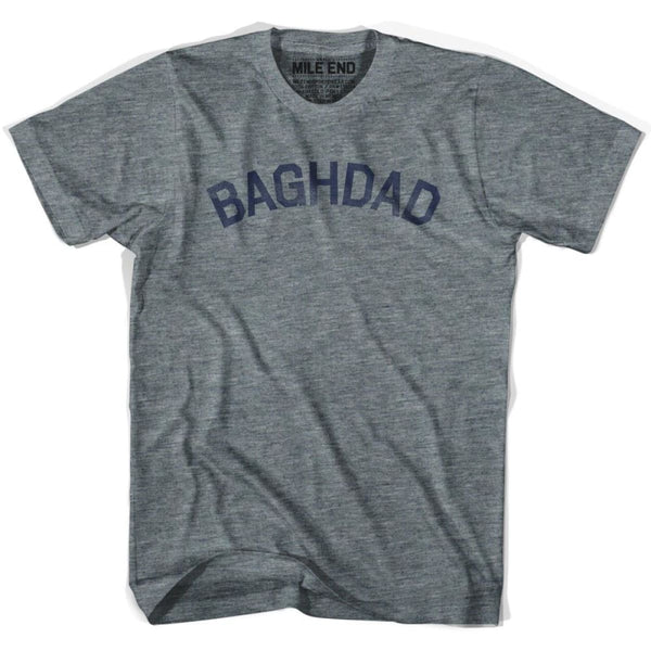 Baghdad City Vintage T-shirt - Athletic Blue / Adult X-Small - Mile End City