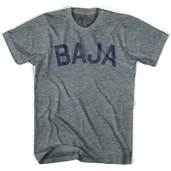 Baja City Vintage T-shirt - Athletic Grey / Adult X-Small - Mile End City