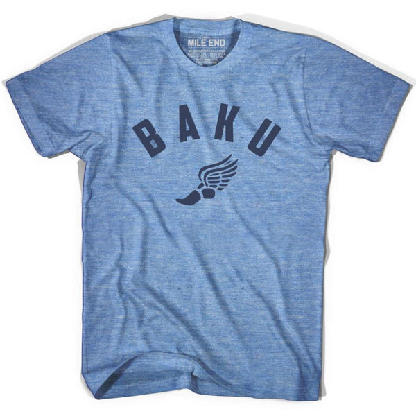 Baku Track T-shirt - Athletic Blue / Adult X-Small - Mile End Track